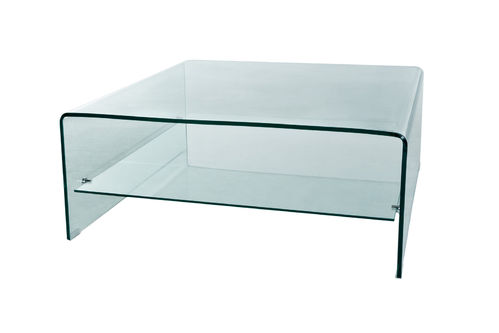 GLASS - TABLE BASSE CARREE 100 / CUB = 0.53 M3