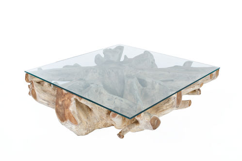 RACINE - TABLE BASSE CARREE 120CM / CUB = 0.62 M3